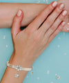 Silver Name Engraved Ladies Braclet