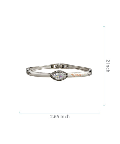 Silver Name Engraved Ladies Bracelet