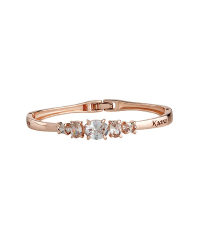 Rose Gold Name Engraved ladies Bracelet