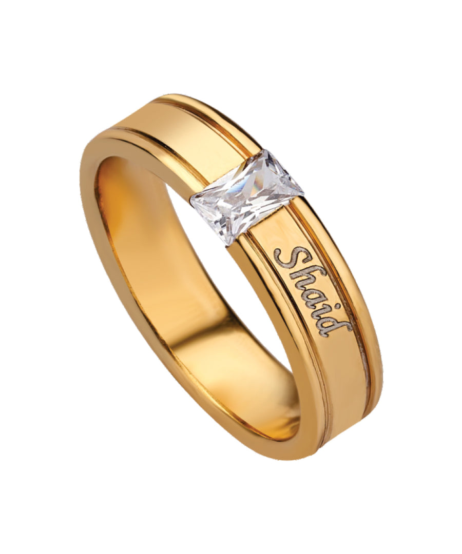 Name Engraved Men's Finger Ring