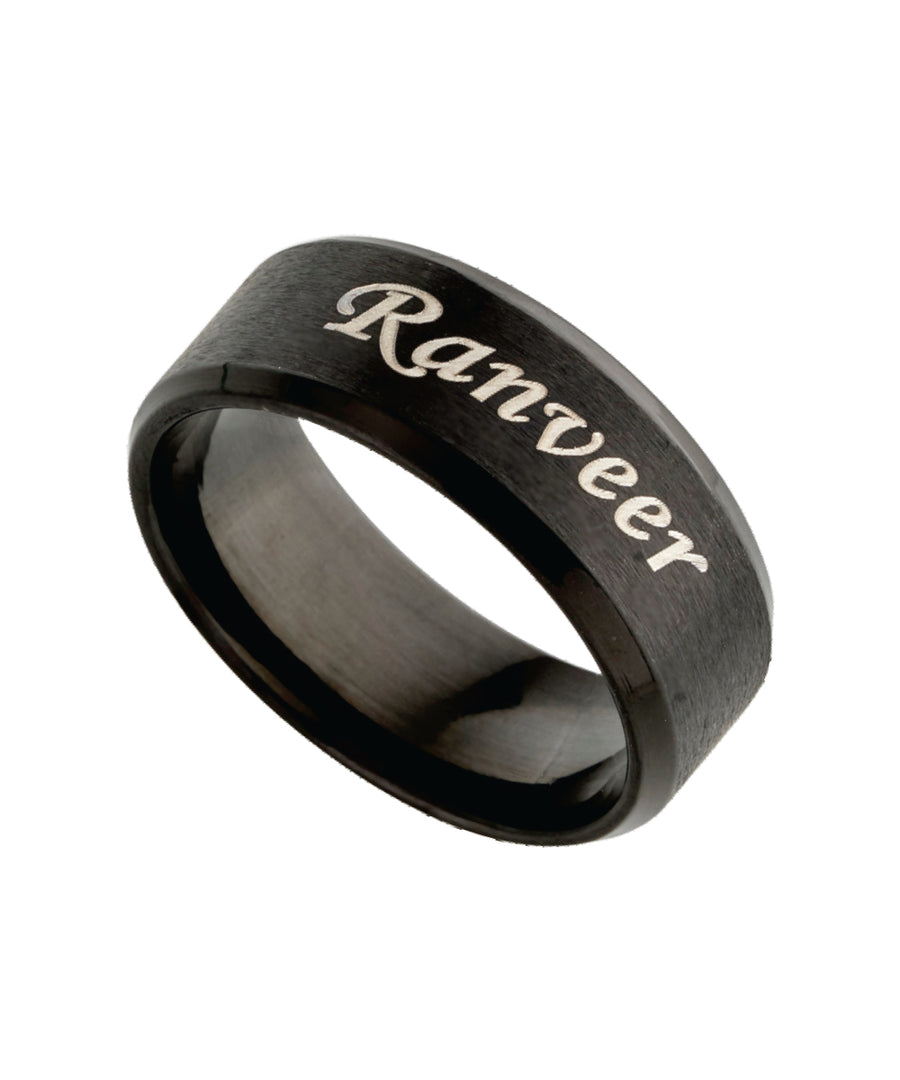 Name Engraved Men Ring