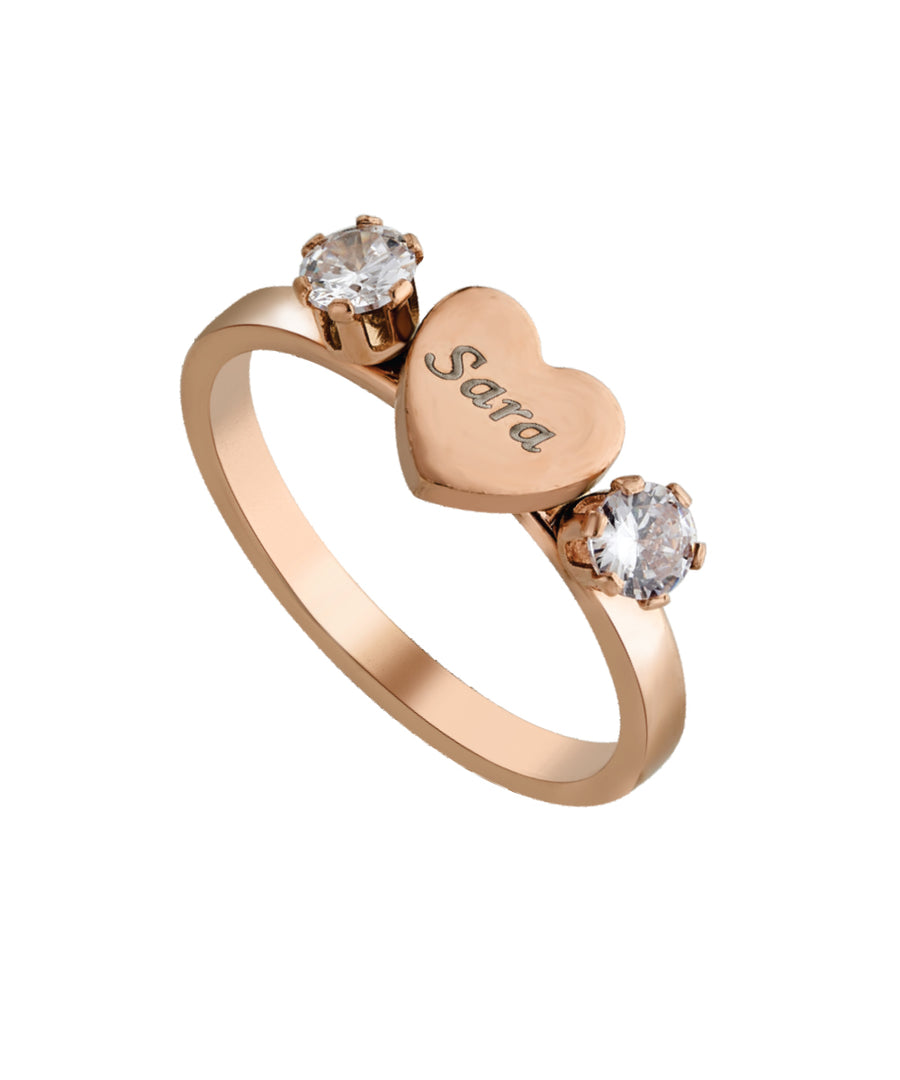 Name Engraved Ladies Ring