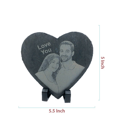 Engraved Heart Shape Stone