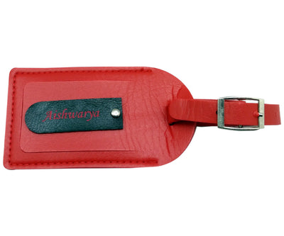 Engraved Red Bag tag