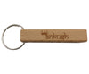 Wooden engraved rectangular keychain