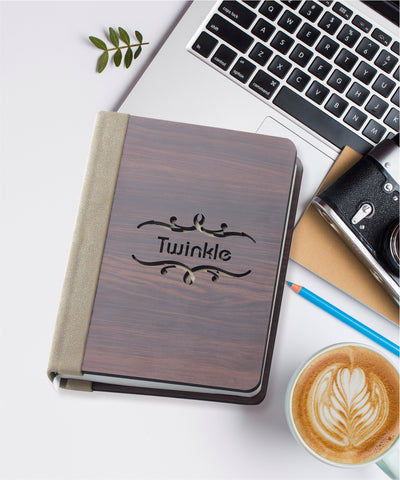 Personalised Name Cutout Executive Diary