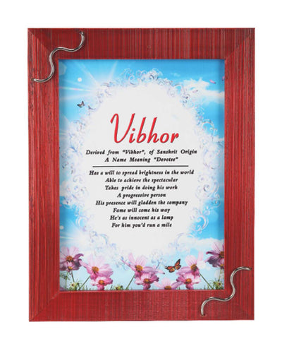 Name Meaning Wooden Frame For Photo