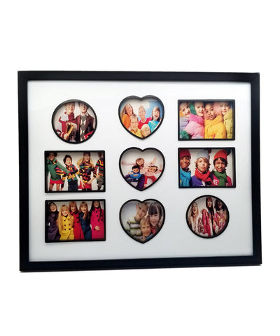 Multiple Shapes Personalised 9 Photo Frame