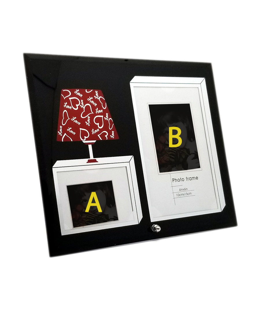 Two Photo Personalized Attractive Glass Photo Frame
