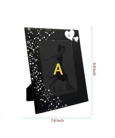 Black Elegant Glass Photo Frame
