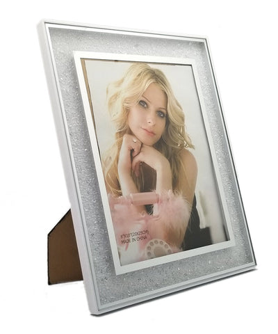 Personalised White Diamond Photo Frame