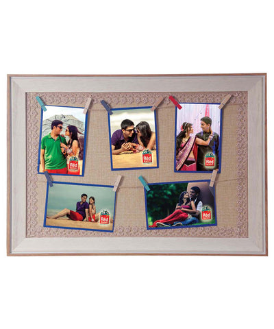 Personalised 5 Clip Photos Hanging Frame