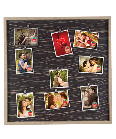 8 Personalized Clip Photo & One I Love You Hanging Photo