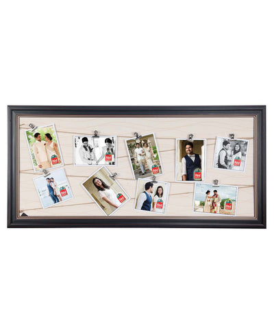 Personalised 9 Clip Photos Hanging Frame