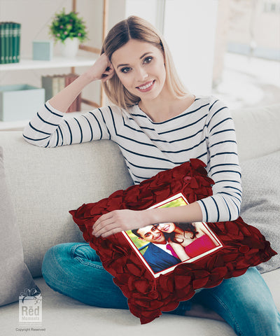 Rose Petal Square Pillow