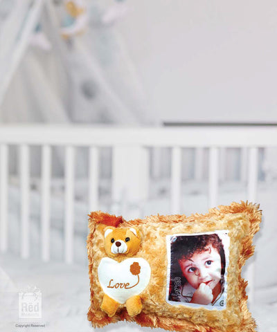 Photo with Teddy Pillow Cover