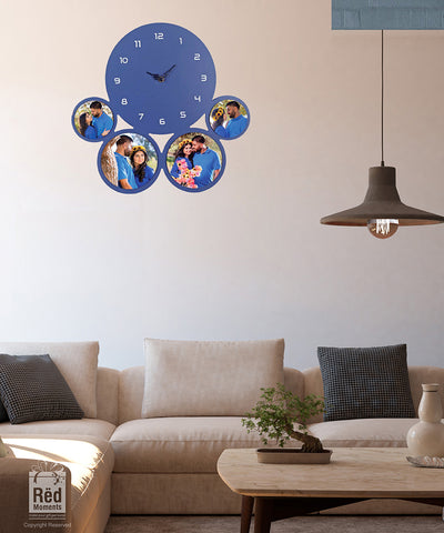 Elegant Blue Wall Clock