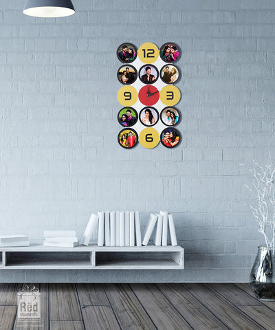 Multi Photo Wall Clock