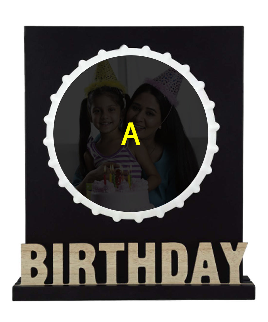 Birthday Wooden Frame With Sublimation Tiles