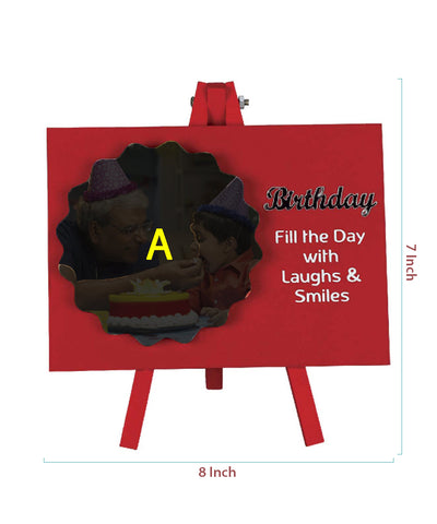 Birthday Laughs Easel Frame