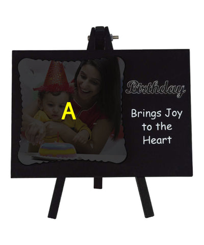 Birthday Joy Easel Frame