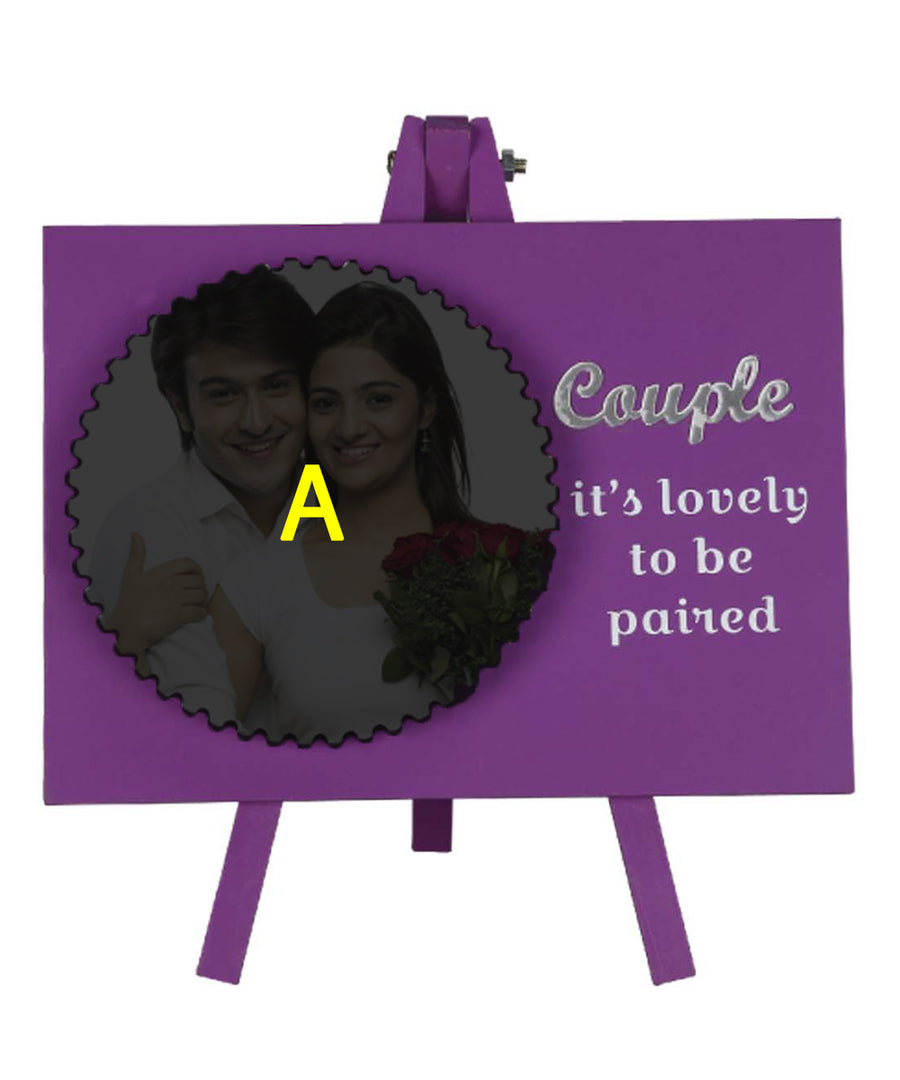 Couple Its Lovely To Be Paired Wooden Frame With Tile And Stand