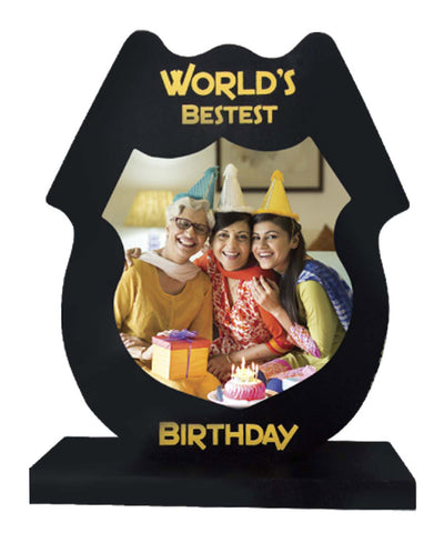 Worlds Bestest Birthday Wooden Frame With Tile