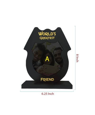 Worlds Greatest Friend Wooden Frame With Tile