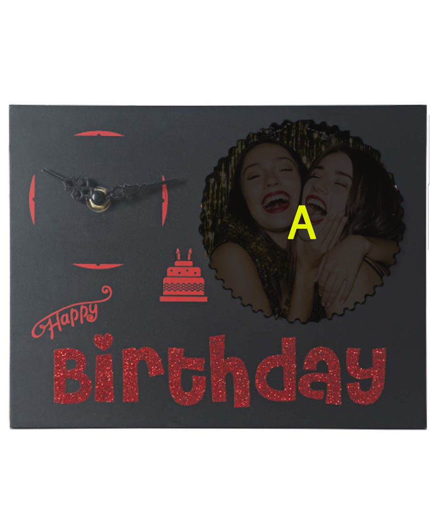 Black Birthday Clock