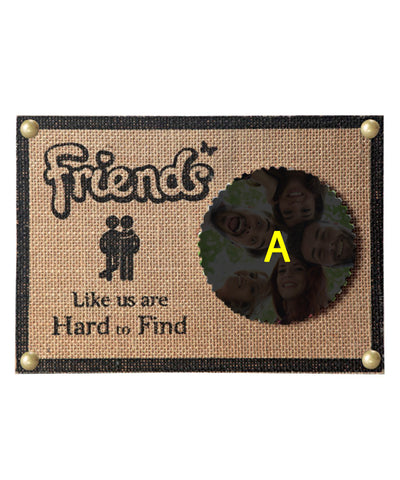 FRIENDS jute Photo Frame