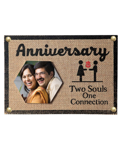 Two Souls One Connection Anniversary Wooden Frame With Tile