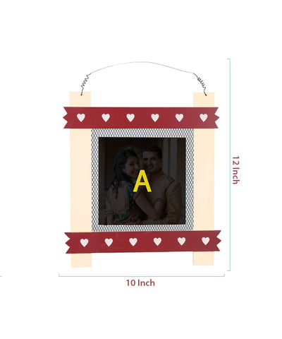 Hanging Wooden Photo Frame With Tile