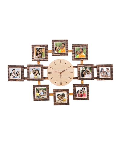 10-Foto Subli Wood Wooden Wall Clock