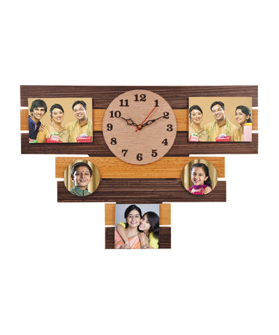 5-Foto Subli Wood Wooden Wall Clock