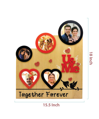 Wooden Collage Photo Frame- 5 Photos
