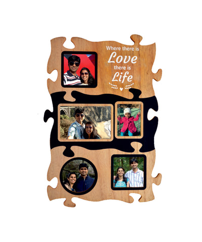 Wooden Collage Photo Frame-5 Photos
