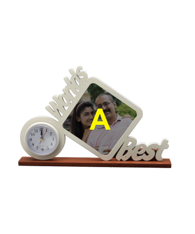 Wooden Photo Frame Table Clock
