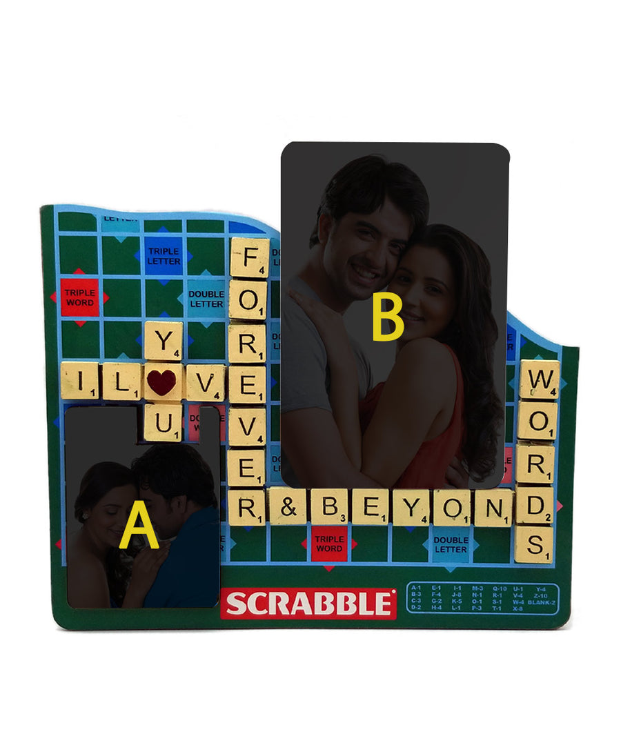 Personalised Word Scrabble With 2 Photos