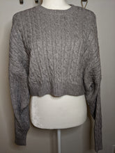 Load image into Gallery viewer, Grey Cardigan Sweater