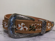 Load image into Gallery viewer, Tan Belt with Embroidered