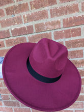 Load image into Gallery viewer, Fedora Burgundy Hat