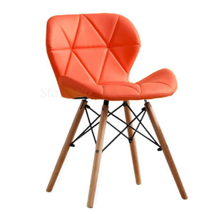 Boreal Nordic design dining chair, home or office, timber legs and two material choices