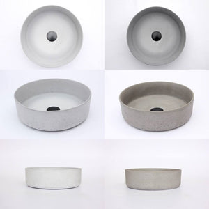 Baby Round 355mm Concrete Basin - Assorted Colours