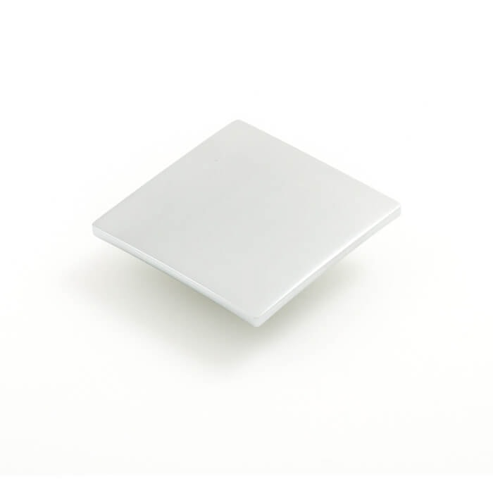 Tile 80mm Square Knob Satin Chrome