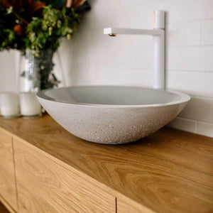 Oval Vessel 525mm Concrete Basin - Assorted Colours