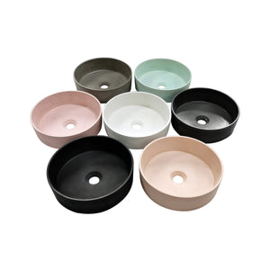 MADRID 365mm Round Concrete Basin - Assorted Colours