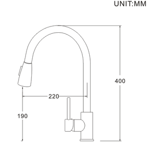1201 Series kitchen pull-out mixer faucet - Various Finishes