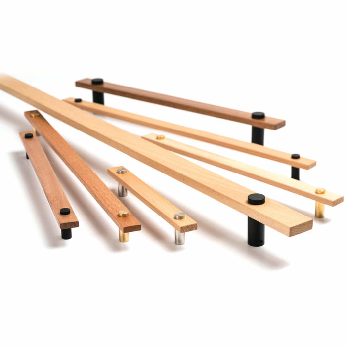 Madera 224mm Timber Pull Handle Tas Oak (various finishes)