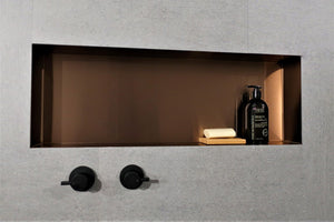 Metallico Shower Niche - Satin Copper (various sizes)