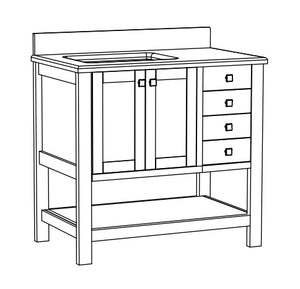 Cynthia Collection timber vanity